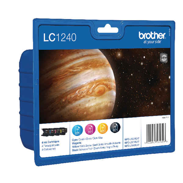 Brother LC-1240 Cyan/Magenta/Yellow/Black Inkjet Cartridges (Pack of 4) LC1240VALBP