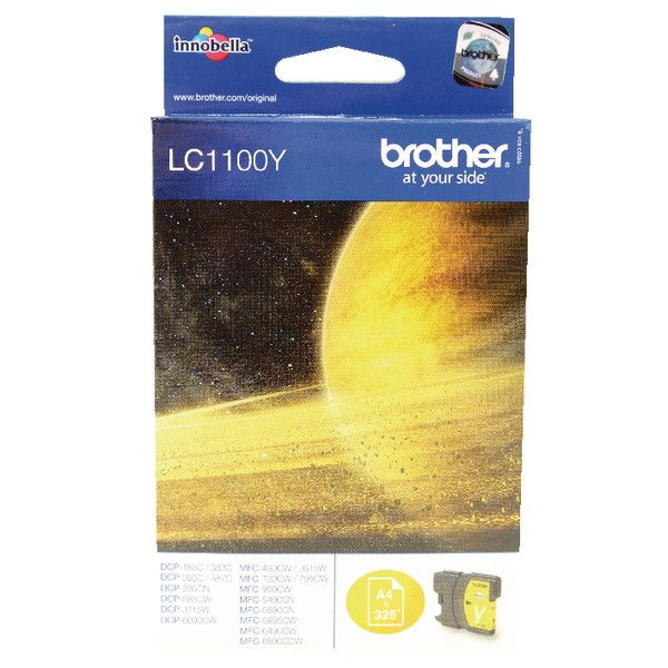 Brother Yellow Inkjet Cartridge LC1100Y