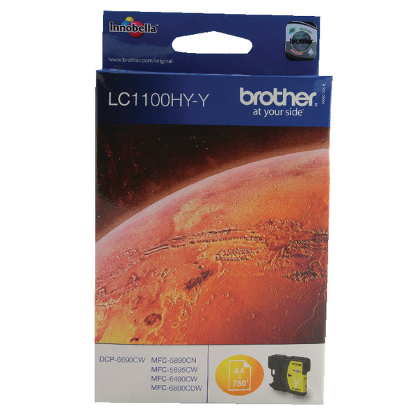 Brother LC1100 Yellow High Yield Inkjet Cartridge LC1100HYY