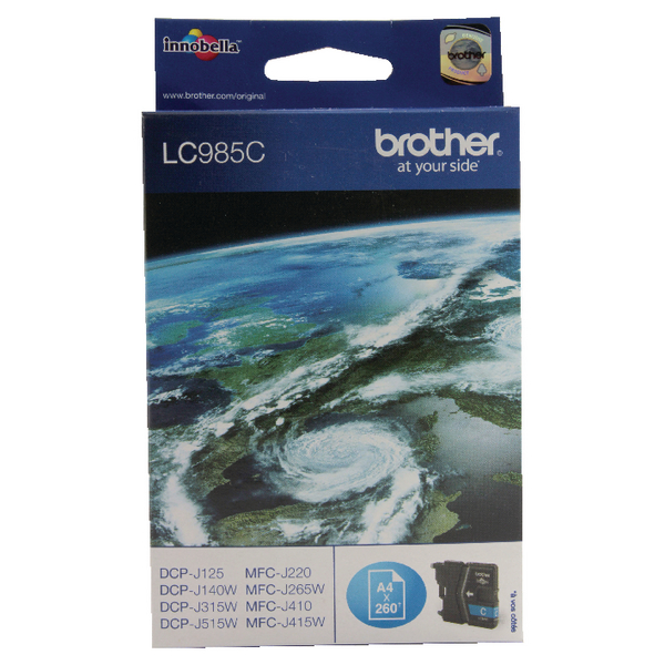 Brother LC985C Cyan Inkjet Cartridge LC-985C