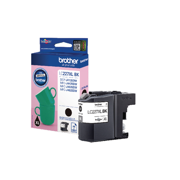 Brother LC227XLBK Black High Yield Inkjet Cartridge LC-227XLBK