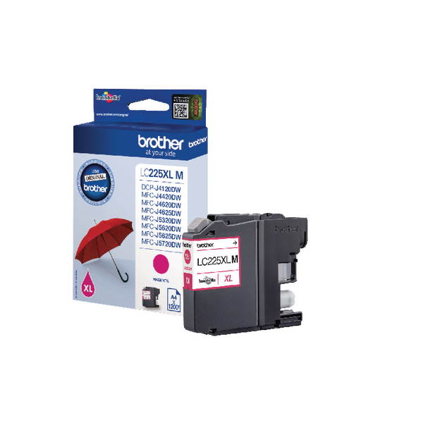 Brother Magenta High Yield Inkjet Cartridge LC225XLM