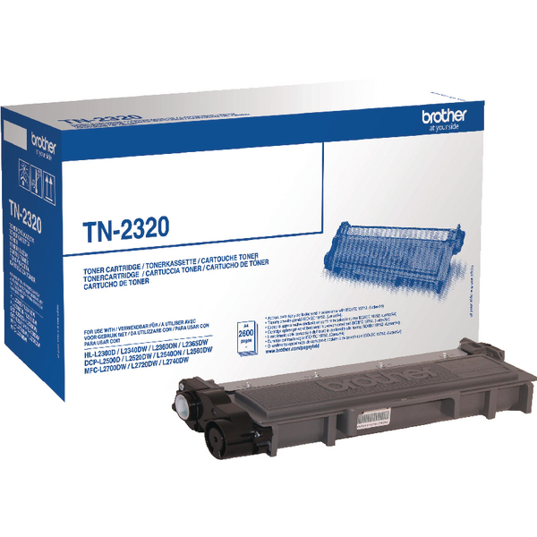 Brother TN2320 Black High Yield Laser Toner Cartridge (TN-2320)