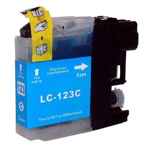 Brother LC123 Cyan Ink Cartridge - Compatible