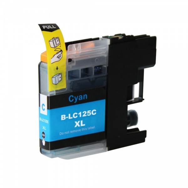 Brother LC125XL Cyan Ink Cartridge - Compatible