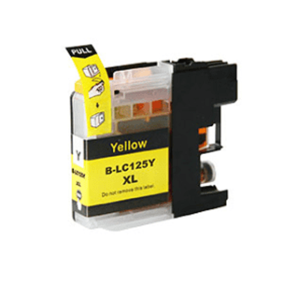 Brother LC125XL Yellow Ink Cartridge - Compatible