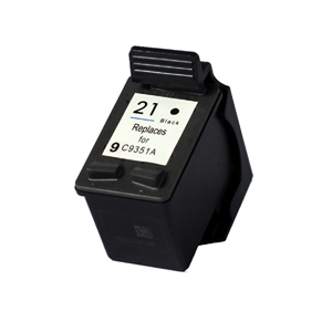 HP C9351AE (21) Black Ink Cartridge - Remanufactured