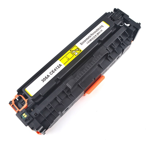 HP CE412A (305A) Yellow Toner Cartridge - Remanufactured