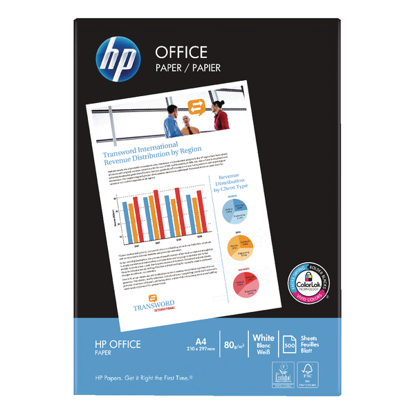HP White Office A4 Paper 80gsm (Pack of 2500) HPF0317