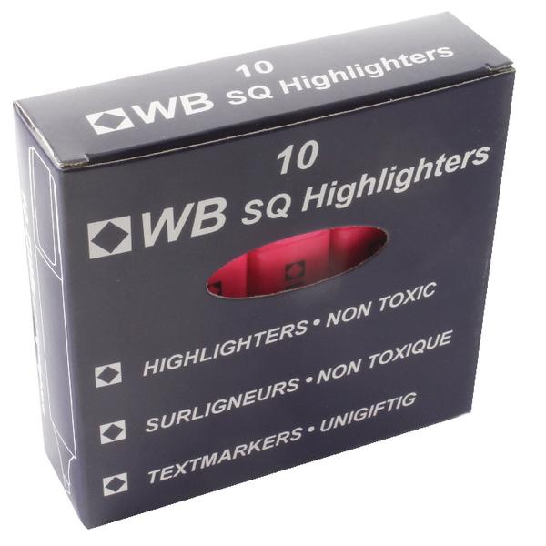 HI2717 819128 Pack of 10 Whitebox Pink Hi-Glo Highlighter