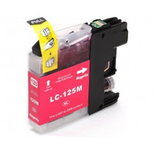 Brother LC125XL Magenta Ink Cartridge - Compatible