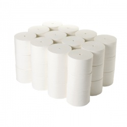 2Work Coreless Toilet Rolls 95mm x 96m 800 sheets White (Pack of 36) TWH900
