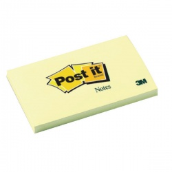 Post-it Notes 76 x 127mm Canary Yellow (Pack of 12)