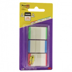 Post-it Red/Green/Blue Strong Index Colour Tips 686L-GBR