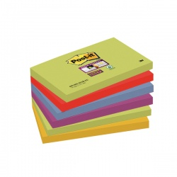 Post-it Notes Super Sticky 76 x 127mm Marrakesh (Pack of 6) 654-6SS-MAR-EU