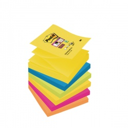 Post-it Notes Super Sticky Z-Note 76 x 76mm Rio (Pack of 6) R330-6SS-RIO-EU