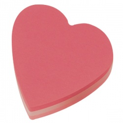 Post-it Notes Heart 70 x 70mm Pink (Pack of 12) 2007H