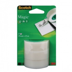 Scotch Magic Tape 19mm x 25m Refill Rolls (Pack of 3) 8-1925R3