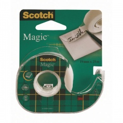 Scotch Magic Tape 19mm x 25m on Dispenser (Pack of 12) 8-1925D