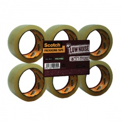 Scotch Clear Low Noise Tape 48mm x 66m (Pack of 6) 3707