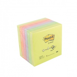 Post-it Z-Notes 76 x 76mm Neon Rainbow (Pack of 6) R330NR