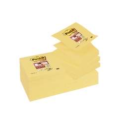 Post-it Super Sticky Z-Notes 76 x 76mm Canary Yellow (Pack of 12) R330-12SSCY