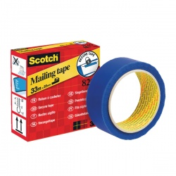 Scotch Secure Mailing Tape 35mm x 33m Blue 820