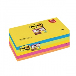 Post-it Notes Super Sticky Z-Notes 76 x 76mm Rio Value Pack (Pack of 12) R330-SSRIO-P9+3