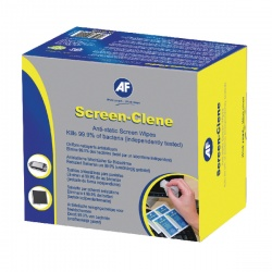 AF Screen-Clene Anti-Static Screen Wipes (Pack of 100) ASCS100
