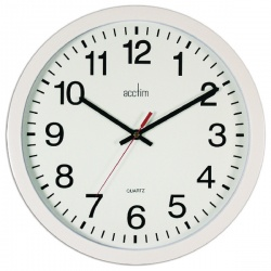Acctim Black Controller Silent Sweep Wall Clock 368mm 93/704B