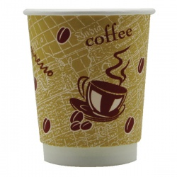 4Aces Double Wall 8oz Red Bean Paper Cup (Pack of 500) HHDWPA8