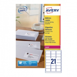 Avery QuickPEEL Laser Address Labels (Pack of 10,500) L7160-500