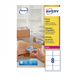 Avery Jam-Free Laser Address Label White 99.1x67.7mm 8 per Sheet L7165-500 Pack of 4000