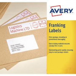 Avery Franking Label 157 x 39mm White FL07