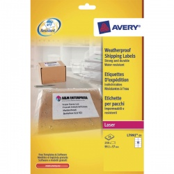 Avery Weatherproof Shipping Label 99.1x57mm (Pack of 25) L7992-25