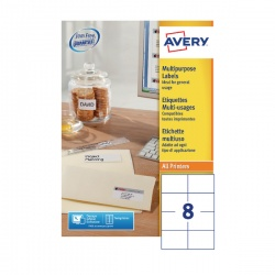 Avery White Multi-Function Labels 105x71mm (Pack of 800) 3427