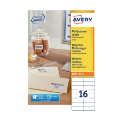 Avery White Multi-Function Labels 105x37mm (Pack of 1600) 3484