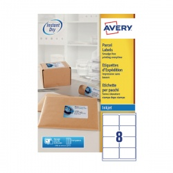 Avery QuickDRY Inkjet Label 99.1x67.7mm 8 per Sheet (Pack of 100) J8165-100