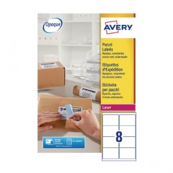 Avery Jam-Free Laser Address Label White 99.1x67.7mm 8 per Sheet L7165-250 Pack of 2000