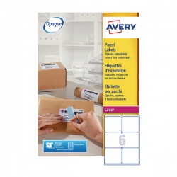 Avery Jam-Free Laser Label Parcel 99.1x93.1mm 6 per Sheet White L7166-250 Pack of 1500