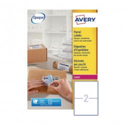 Avery Jam-Free Laser Label 199.6x143.5mm 2 per Sheet L7168-250 (Pack of 500)