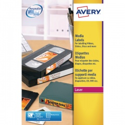Avery White Laser Print Video Face Label 76x46mm (Pack of 300) L7671-25