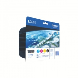Brother LC-985 Cyan/Magenta/Yellow/Black Inkjet Cartridges (Pack of 4) LC985VALBP
