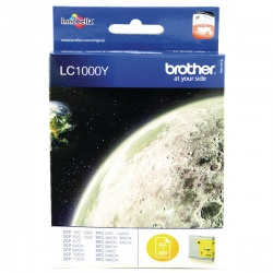 Brother Yellow Inkjet Cartridge LC1000Y