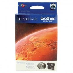 Brother LC-1100 Black High Yield Inkjet Cartridge LC1100HYBK