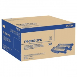 Brother TN3380 High Yield Black Laser Toner Cartridge Twin Pack