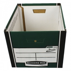 Fellowes Bankers Box Premium Presto Storage Box Green/White 7260801