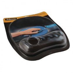 Fellowes Crystal Mouse Pad and Wrist Rest Black 9112101 Claim a Fellowes Reward