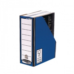 Fellowes Blue/White Bankers Box Premium Magazine File (Pack of 10) 0722904