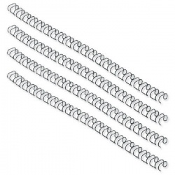Fellowes 14.3mm Black Wire Binding Element (Pack of 100) 53277